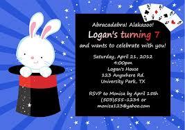 magic themed birthday party invitations magic kids birthday