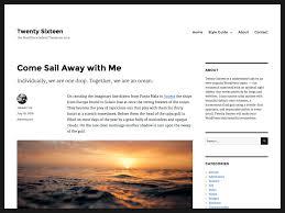 wordpress layout how to twenty sixteen free wordpress themes