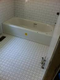 Gray Subway Tile Bathroom by 3x6 Desert Gray Subway Tile From Dal Tile But The Flooring Is