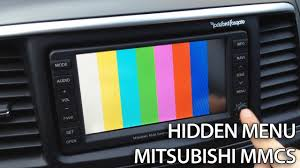 how to enter hidden service menu in mitsubishi mmcs lancer pajero