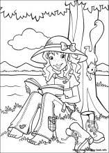 holly hobbie coloring pages coloring book