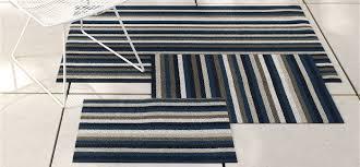 Chilewich Doormats Chilewich Floor Indoor Outdoor Mats Shag Even Stripe Marine