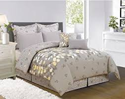 Yellow King Size Comforter Coupon For 8 Pieces Eliana Yellow Grey White Comforter Bed In A