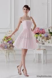 Light Pink Bridesmaid Dress Short Light Pink Bridesmaid Dresses Chiffon 2016 2017 B2b Fashion