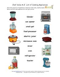 teach children about the kitchen appliances they will encounter