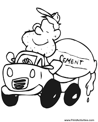 truck coloring page cement mixer 3