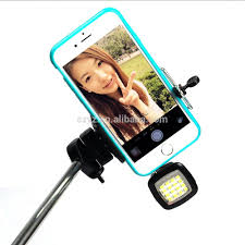 2015 arrival selfie flash square mini selfie monopod led flash
