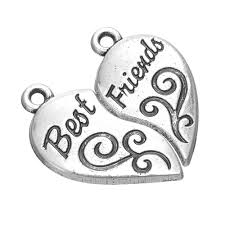 necklace charms wholesale images My shape tibetan silver plated best friends broken heart necklace jpg