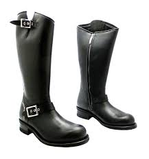 black leather biker boots harley davidson workers tall women u0027s black zip up leather biker