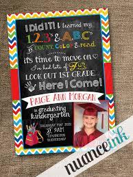 custom kindergarten pre school graduation announcement invitation