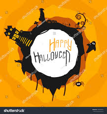 halloween ghost and haunted house background halloween party banner flyer poster scary stock vector 148900430