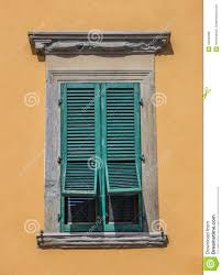 typical italian window with blinds half open stock photo image