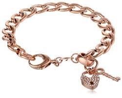 rose gold bracelet charm images Fossil rose gold tone charm starter bracelet jewelry jpg
