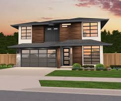 Hip Roof House Plans by Northwest Modern Mark Stewart Home Design