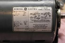 general electric single phase motor wiring diagram wiring