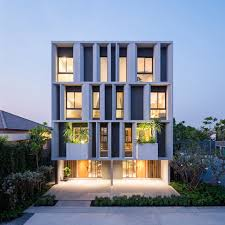 a modern townhouse with a private garden in bangkok design milk