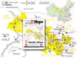 Map Of China Provinces by Gansu Map Of Gansu Province China Lanzhou Jiayuguan Dunhuang