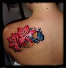 cool lotus flower and butterfly