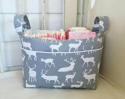 Change Table Accessories Nappy Caddy Change Table Organiser Fabric Basket Nursery
