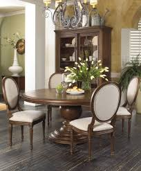 Traditional Wooden Kitchen Chairs by Dining Room With Half Moon Sideboard And White Dining Chairs