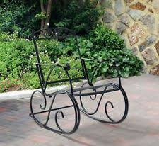 mainstays jefferson wrought iron porch rocking chair supports 1