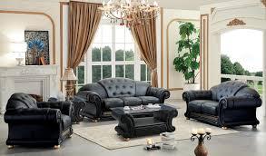 Livingroom Set Versace Black Sofa Versace Esf Furniture Leather Sofas At Comfyco