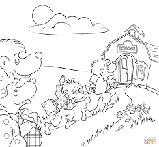 berenstain bears go to coloring page printable click the