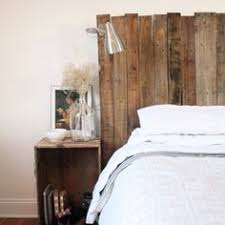 Distressed Wood Headboard by Headboard Made From Pallet Wood Painted With A Distressed Look