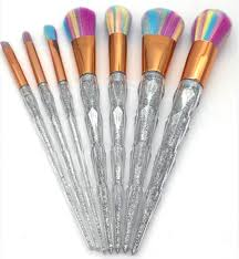 unicorn tail makeup brush set 7pcs onyx bunny
