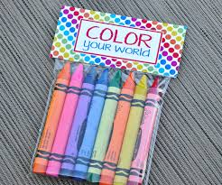 instant download printable candy bag labels rainbow or crayon or