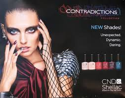 poster two side cnd shellac contradictions collection i gel nails com