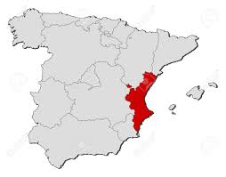 Map Of Valencia Spain by Political Map Of Spain With The Several Regions Where The