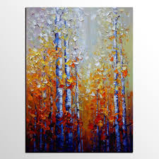 abstract painting autumn tree painting landscape large canvas