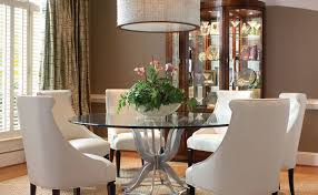 Modern Glass Round Dining Table Table Incredible Ideas Round Dining Room Set Strikingly Idea