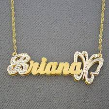 14k Gold Name Necklace Name Necklace Gold 14k The Necklace