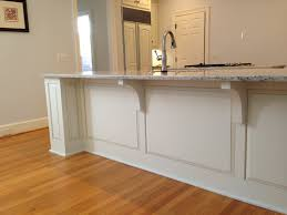 Kitchen Cabinets Facelift by Finished Pilasters U0026 Lowered Countertop Bar Wainscoting Our