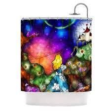Wizard Of Oz Shower Curtain Alice In Wonderland Printed Shower Curtain Free Shipping Today