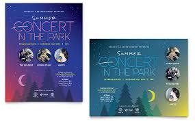 summer concert poster template word u0026 publisher