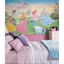 Girls Bedroom Wall Murals Royal Bedroom Collection Fun Disney Princess Room Decor Ideas