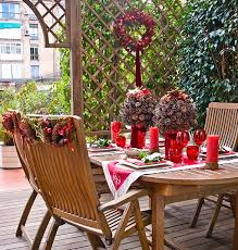 Christmas Table Decorations Ideas 2013 by Outdoor Dining Table Christmas Decoration Ideas Pinecones