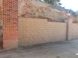 home design cinder block retaining wall with stucco rustic