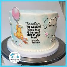 winnie the pooh baby shower cakes classic winnie baby shower cake nj blue sheep bake shop