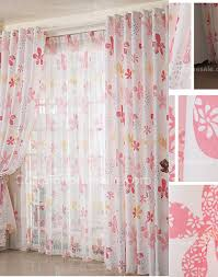 flower living room or game room pink pleat curtains