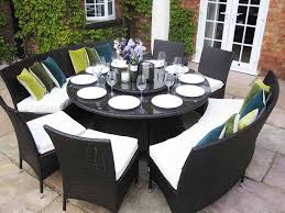 rattan dining table furniture and modern chairs for patio backyard