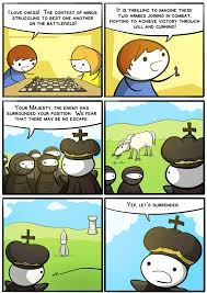 Comic Memes - chess war scenario comic where the king is corned by opponents