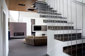 Home Interior Stairs Design The Modern Steel Staircase Inside And Outside In The Amazing