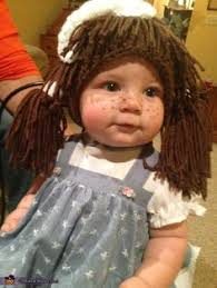 Homemade Cabbage Patch Kid Halloween Costume Cabbage Patch Doll Costume Cabbage Patch Diy Halloween Cabbage