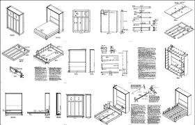 murphy craftsman vertical queen size wall murphy bed woodworking
