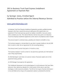 installment payment agreement template business landlord tenancy