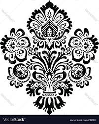 ornate flower ornament royalty free vector image